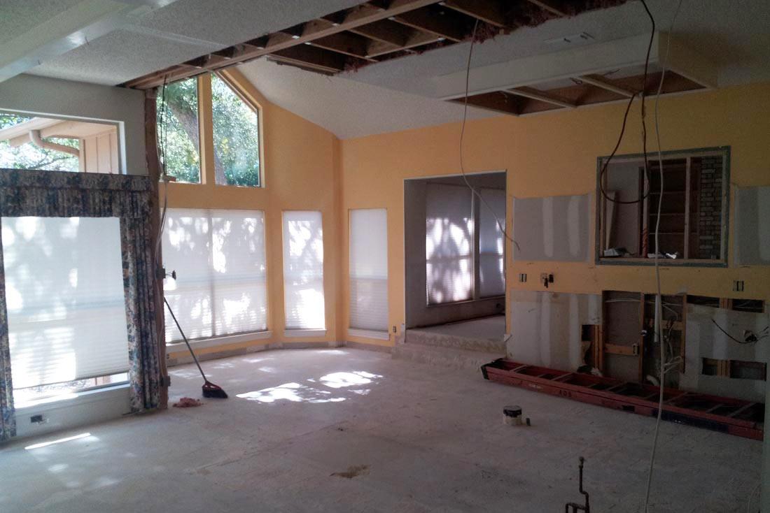Pre-construction kitchen demolition
